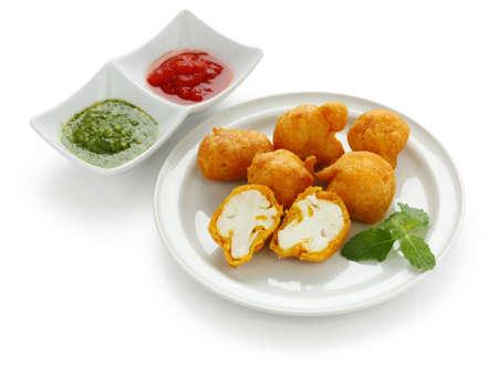 カリフラワー pakora インド料理