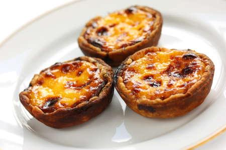egg tart: homemade egg tart Stock Photo