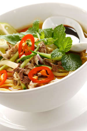 tamarindo: penang Assam Laksa, la comida de Malasia