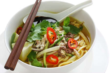 페낭 아삼 락사, 말레이시아 음식