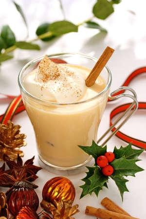 christmas time: eggnog at christmas time
