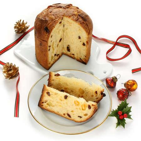 panettone, italian christmas bread photo