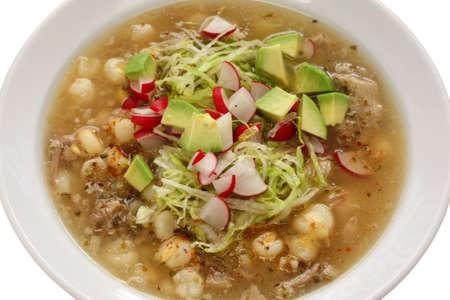 white pozole, mexican soup cuisine photo