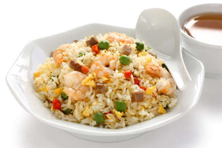 fried rice, chinese cuisine, yangzhou style photo