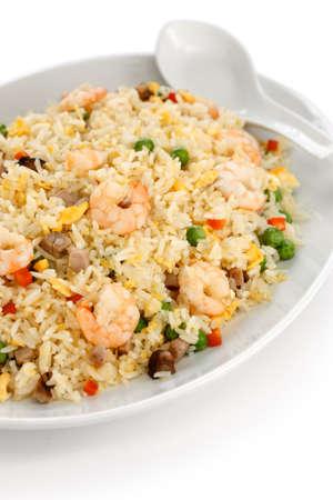arroz frito, comida china, estilo de Yangzhou