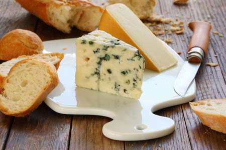 cheeseboard: cheese and baguette