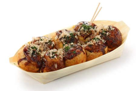 takoyaki, bolas de pulpo, comida japonesa