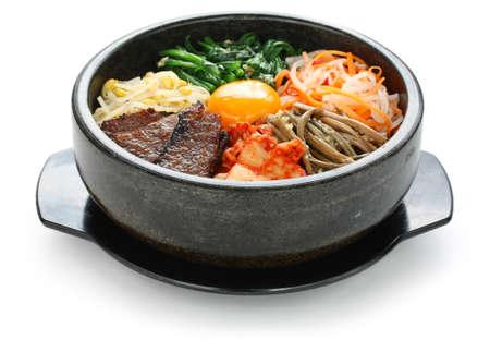 加熱された石のボウル、韓国料理にビビンバ