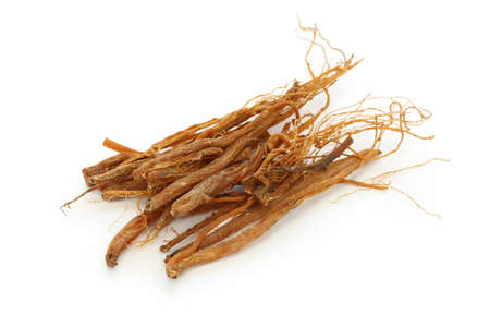 ginseng roots, panax ginseng, traditional chinese herbal medicine photo