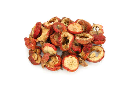 dried chinese hawthorn fruits, traditional chinese herbal medicine Stock Photo - 11870331
