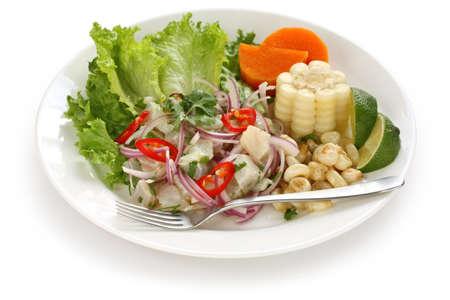 peru: ceviche, seafood dish, peruvian cuisine Stock Photo