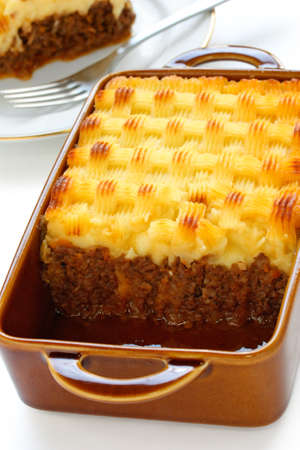 minced pie: cottage pie, uncooked