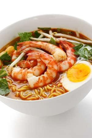 prawn mee, prawn noodles photo