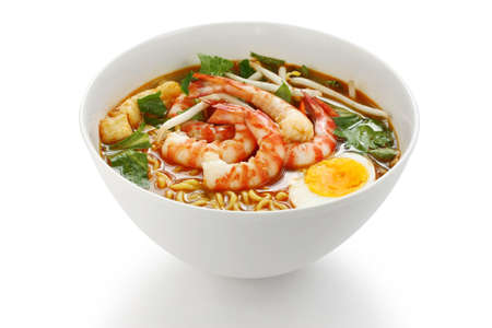 prawn mee, prawn noodles photo