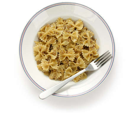 kasha varnishkes, buckwheat and bow-tie pasta, a traditional jewish dish  photo