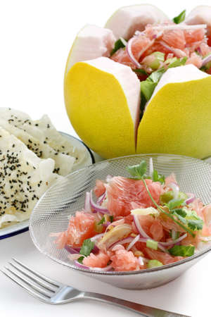 vietnamese pomelo salad, goi buoi photo