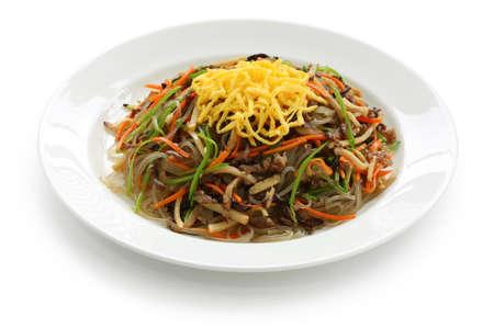 korean food: japchae, korean cuisine