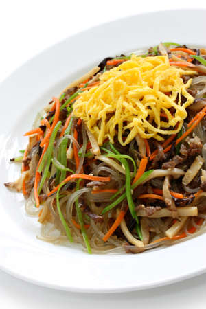 side of beef: japchae, korean cuisine