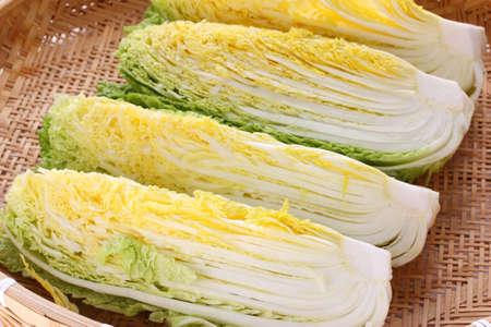 making kimchi process, prepare napa cabbage, korean food Фото со стока