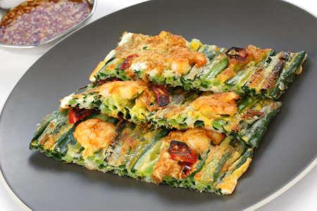 korean food: pajeon, korean pancake