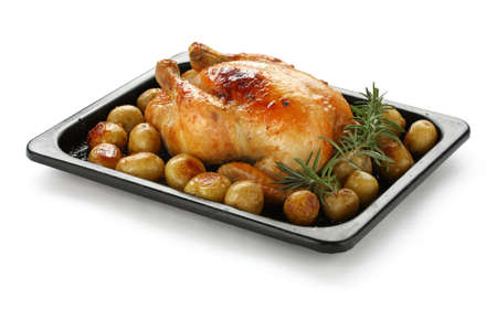 oven roasted chicken with potatoes Stock Photo - 12680657