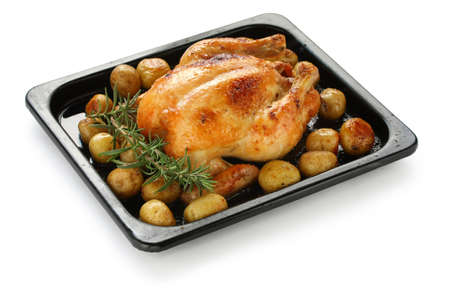 oven roasted chicken with potatoes Stock Photo - 12680651