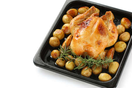 oven roasted chicken with potatoes photo