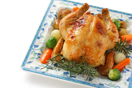roasted chicken with vegetables Stock Photo - 12680661