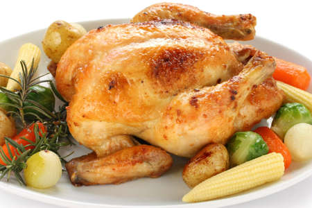 roasted chicken with vegetables Stock Photo - 12680664