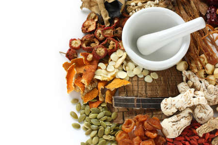 chinese medical: chinese food therapy, traditional chinese herbal medicine Stock Photo