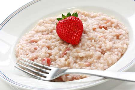 İtalyan mutfağı: strawberry risotto, italian cuisine
