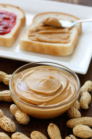 peanut butter and jelly sandwich: peanut butter image