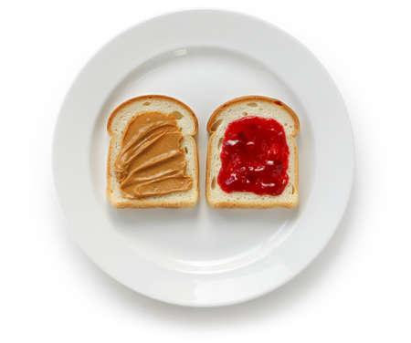 mantequilla: mantequilla de maní y mermelada