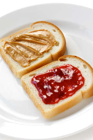 peanut butter and jelly: peanut butter & jelly sandwich