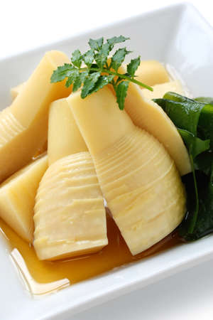 shoots: simmered bamboo shoots, japanese cuisine