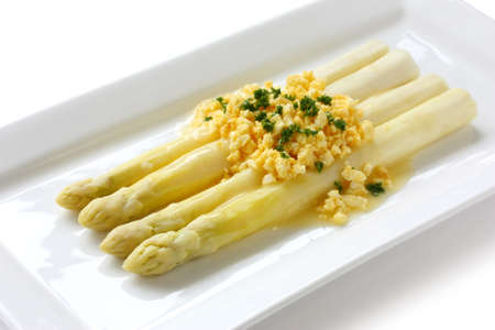 white asparagus flemish style photo