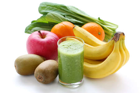 fruit smoothie: green smoothie Stock Photo