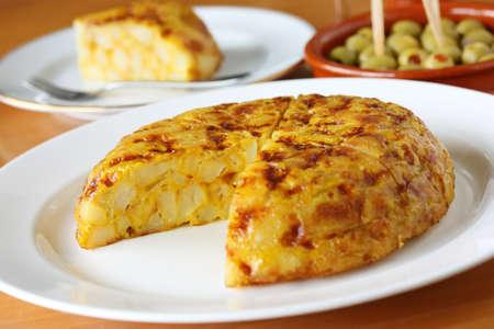 spanish tapas: tortilla, spanish omelet, spanish omelette, spanish cuisine