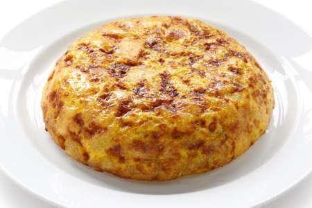 tortilla, spanish potato omelet photo