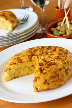 omelet: tortilla, spanish potato omelet