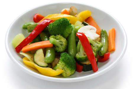 �broccoli: Revuelva los vegetales fritos