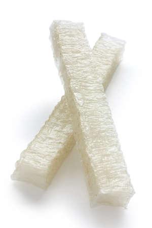 gelatina: kaku kanten, palos de agar agar, la comida japonesa