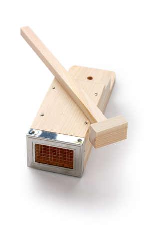 kitchen tool: tentsuki, a kitchen tool to make tokoroten(gelidium jelly).