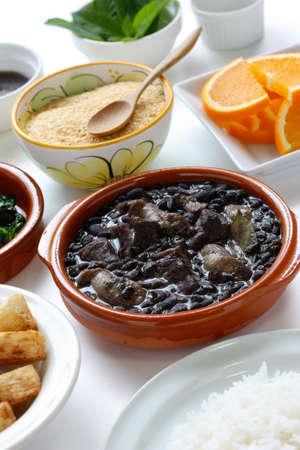 sausage pot: feijoada, black bean and meat stew, brazilian cuisine