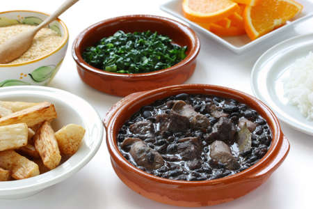 feijoada, black beans and meat stew, brazilian cuisine Stock Photo