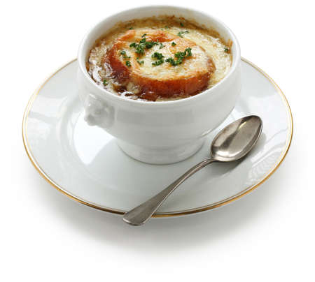 de cebolla gratinada Sopa de franc�s