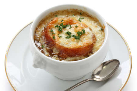 browned: french onion gratin soup