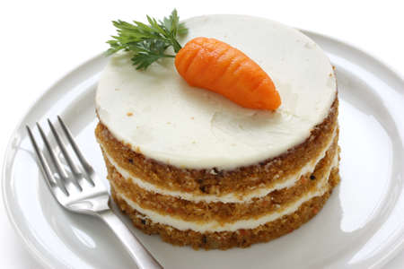 layer cake: homemade carrot cake