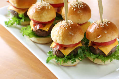 gourmet burger: mini hamburgers, mini burgers