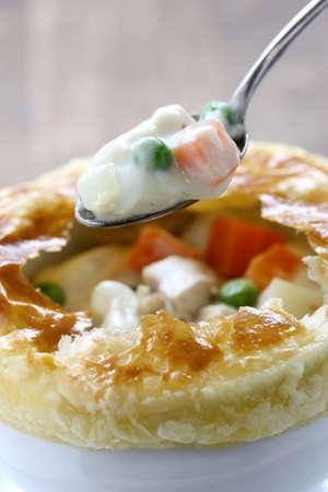 flaky: chicken pot pie